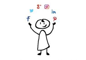Juggling different social media apps